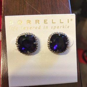 Sorrelli purple stud earrings